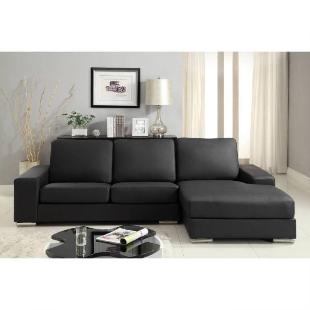photos canap angle cuir noir. Black Bedroom Furniture Sets. Home Design Ideas