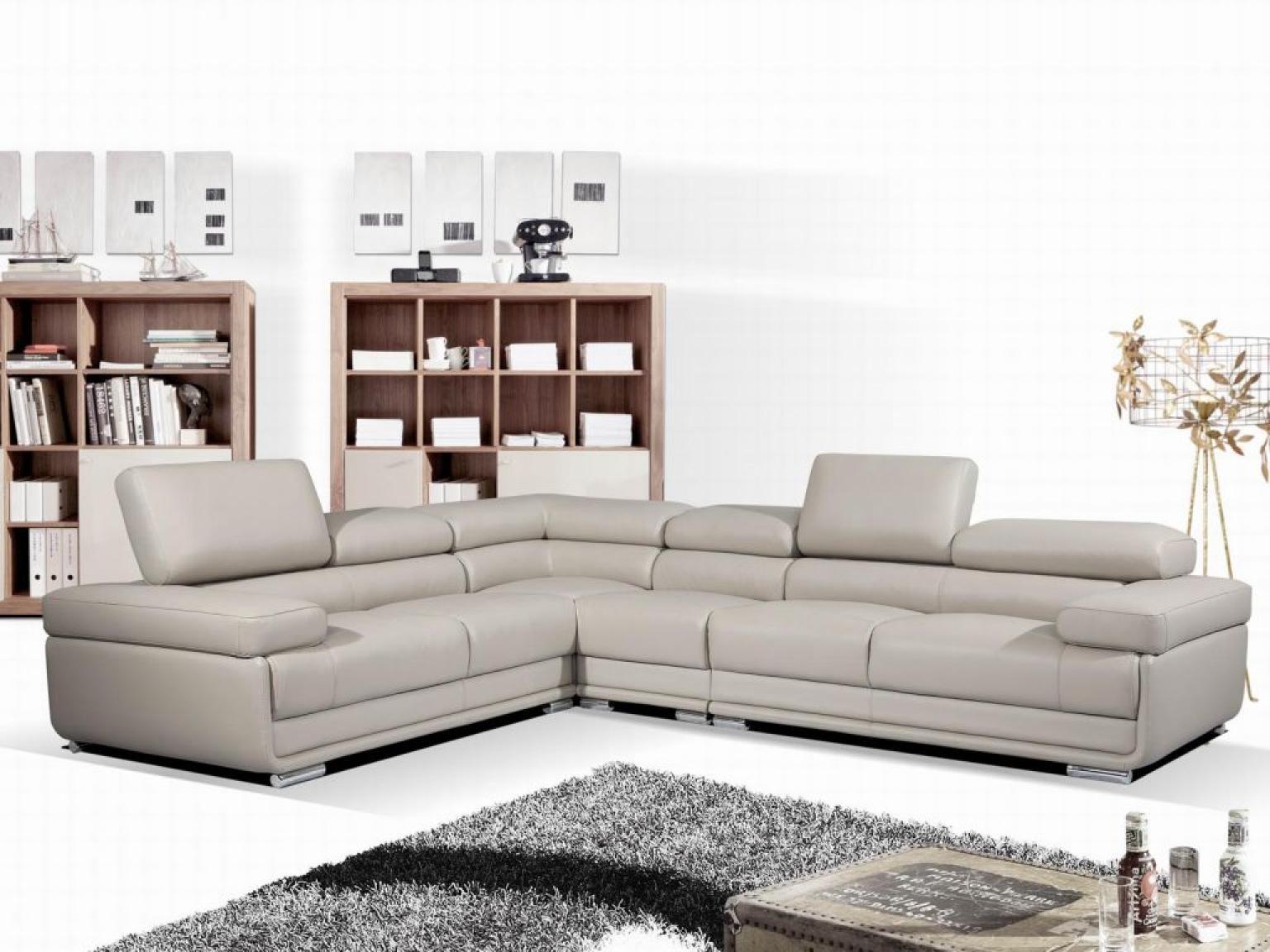 photos canap angle cuir gris. Black Bedroom Furniture Sets. Home Design Ideas