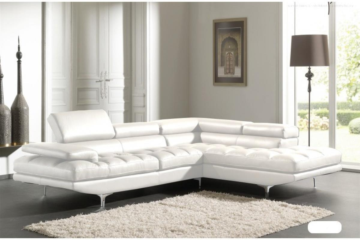 canape angle cuir blanc. Black Bedroom Furniture Sets. Home Design Ideas