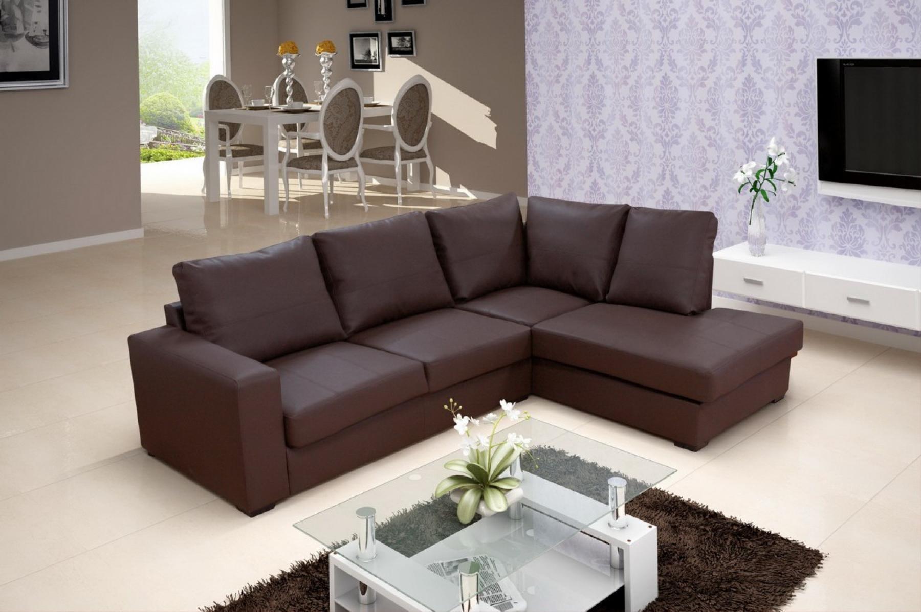 photos canap angle cuir marron. Black Bedroom Furniture Sets. Home Design Ideas