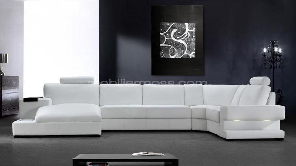 photos canap blanc moderne. Black Bedroom Furniture Sets. Home Design Ideas