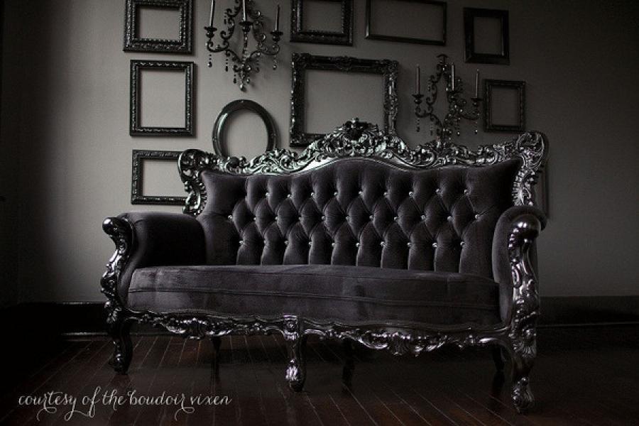 Photos canap baroque noir - Canape style baroque pas cher ...