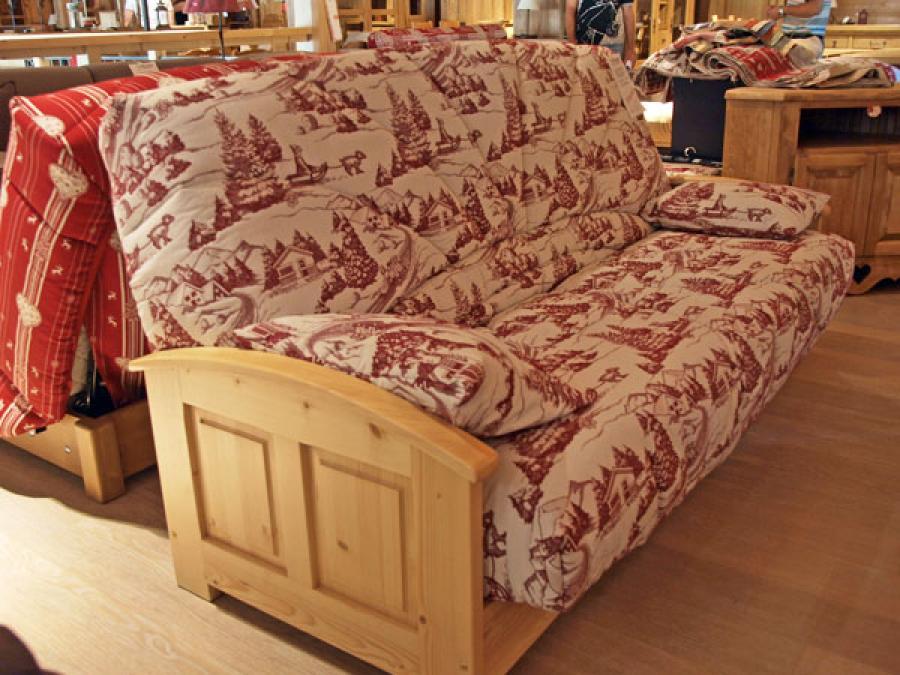photos canap bois montagne. Black Bedroom Furniture Sets. Home Design Ideas