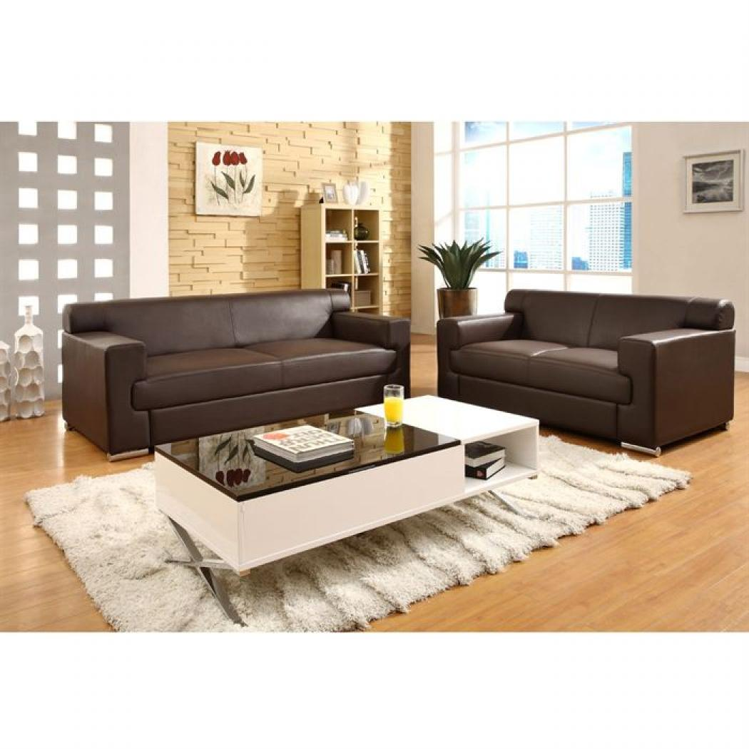 photos canap cuir marron. Black Bedroom Furniture Sets. Home Design Ideas