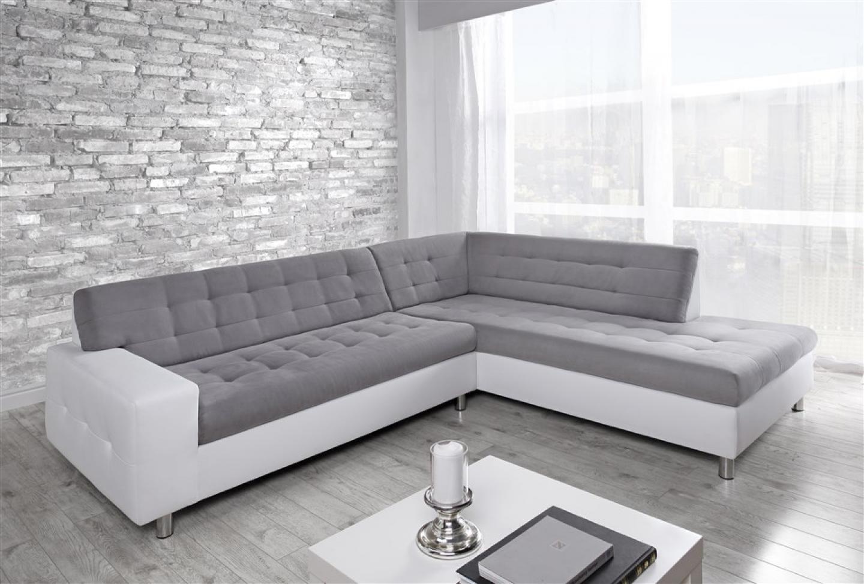 Photos canap conforama blanc et gris - Canape cuir blanc conforama ...