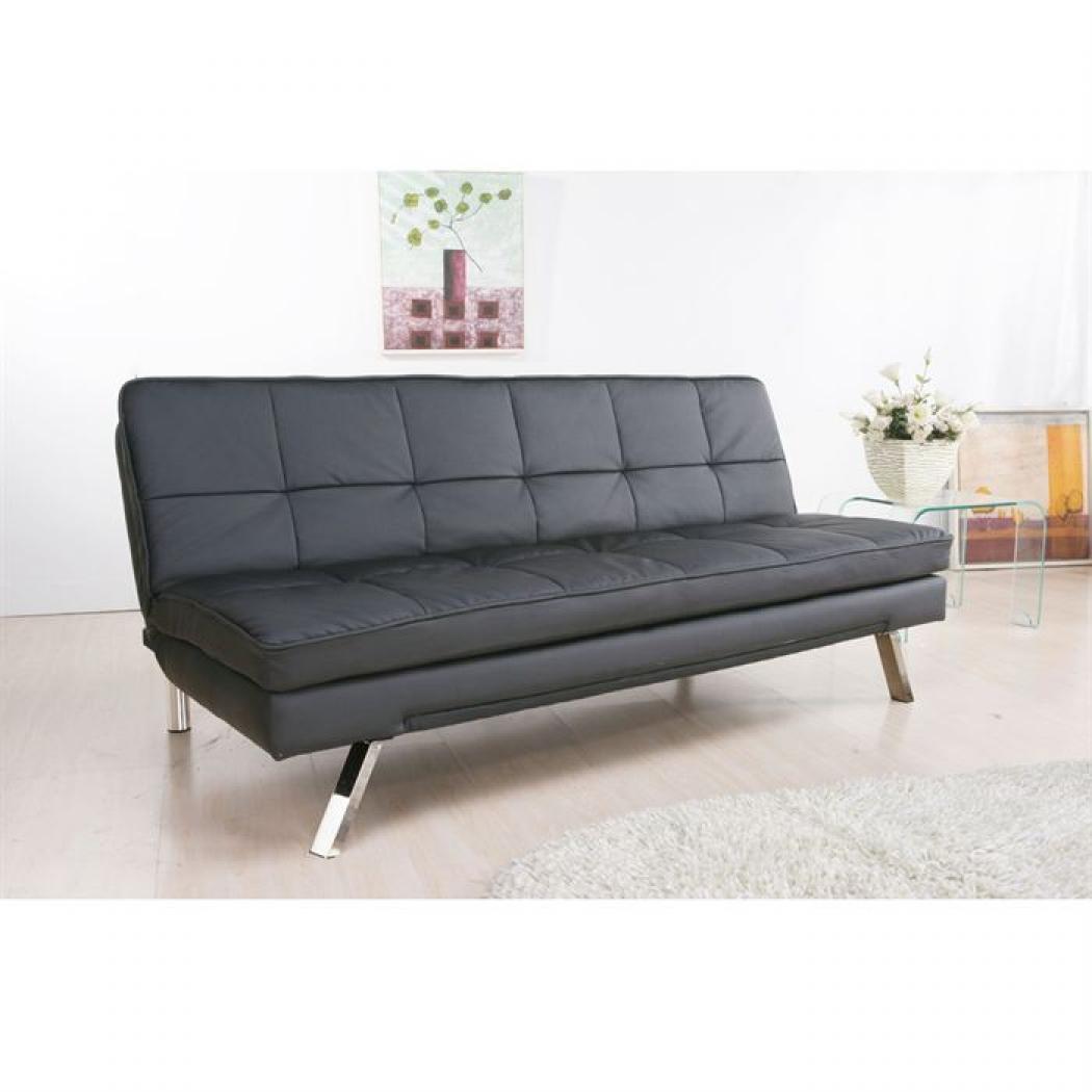 photos canap clic clac cuir. Black Bedroom Furniture Sets. Home Design Ideas