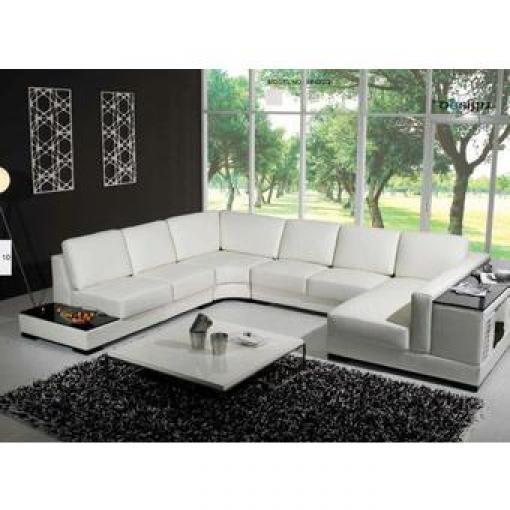 photos canap en u cuir. Black Bedroom Furniture Sets. Home Design Ideas
