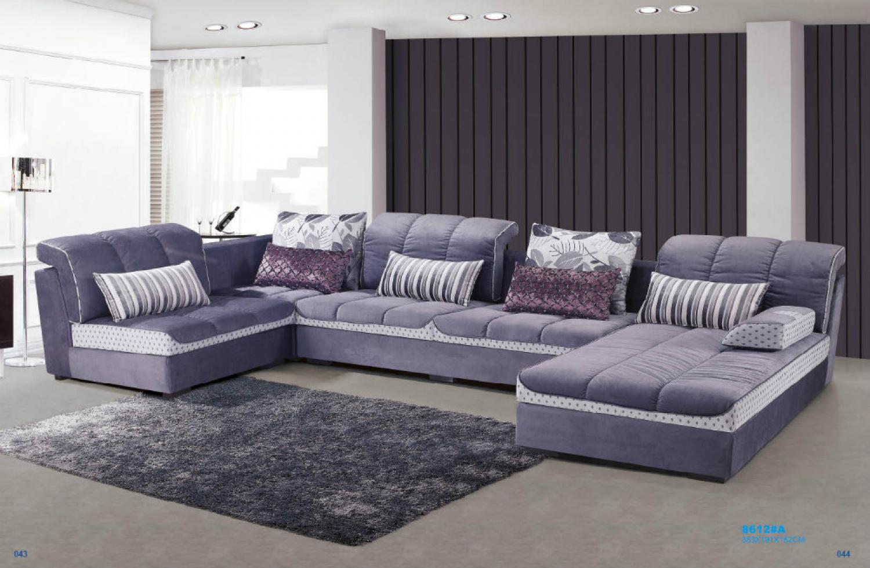 photos canap en u tissu. Black Bedroom Furniture Sets. Home Design Ideas