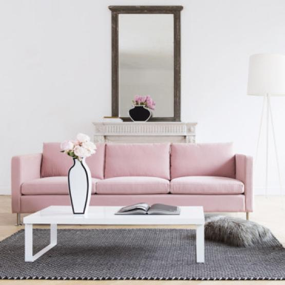 Photos canap d 39 angle ikea rose - Canape convertible rose ...