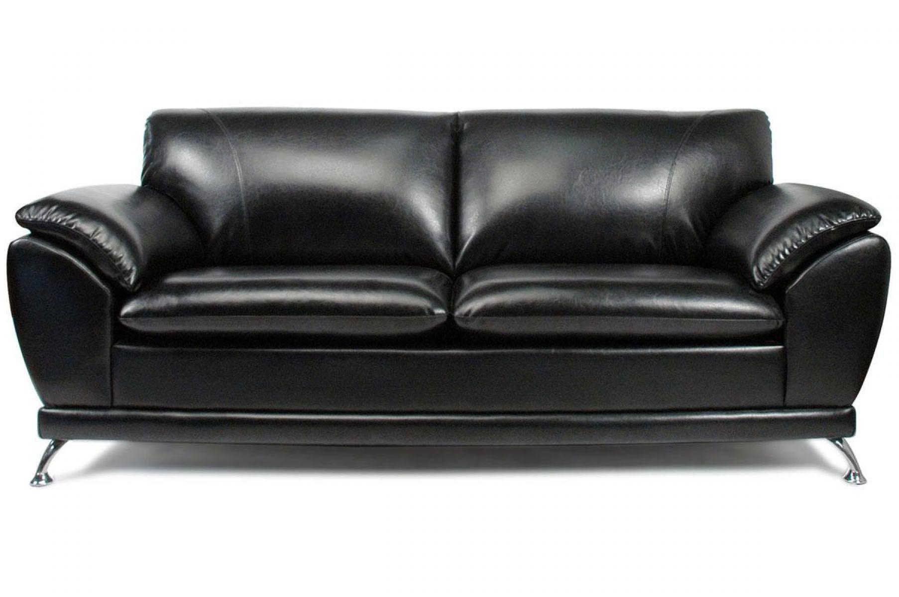 Canape en cuir noir maison design for Canape cuir noir design