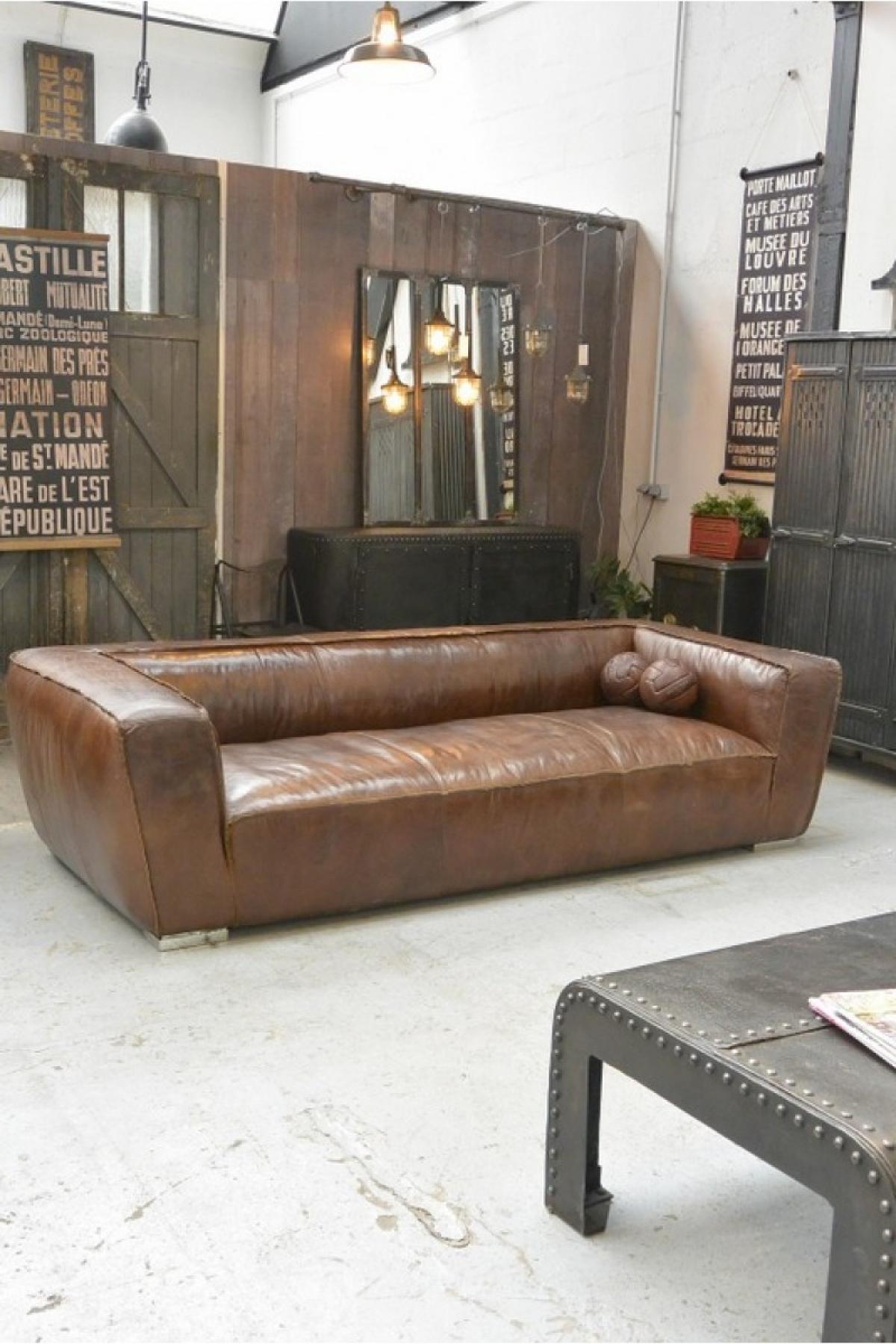photos canap en cuir vieilli. Black Bedroom Furniture Sets. Home Design Ideas