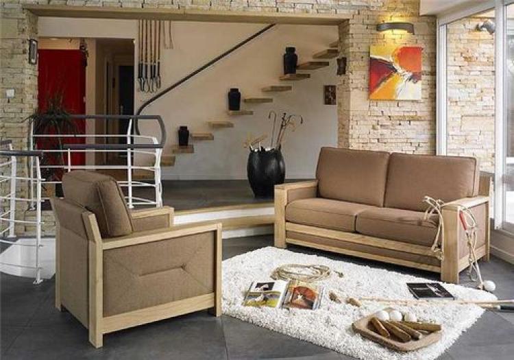 Canape En Bois Moderne : full_canape-en-bois-moderne_0.jpg