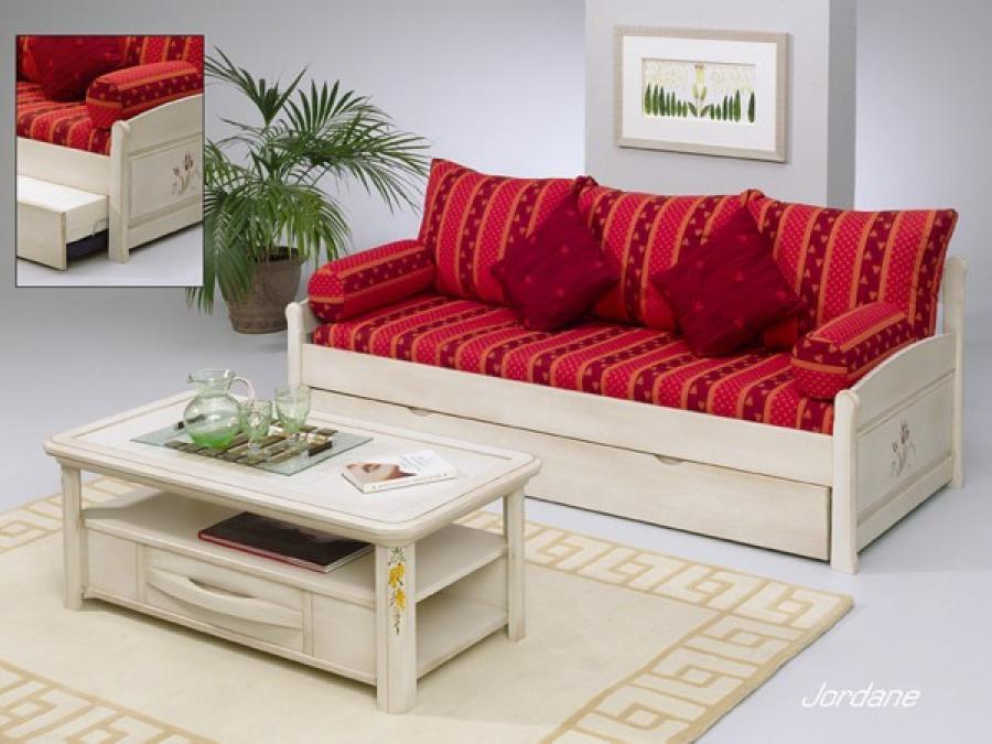 Photos canap en bois moderne for Transformer un lit en canape